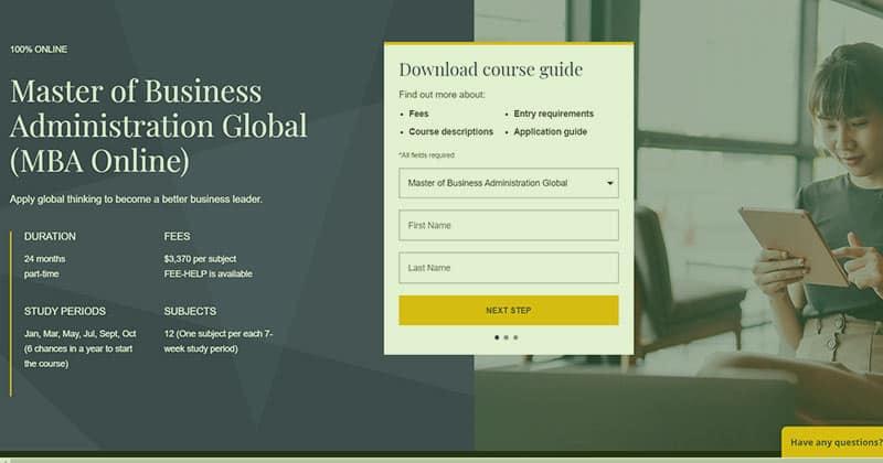 JCU Online MBA