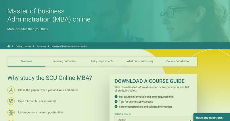 SCU Online MBA