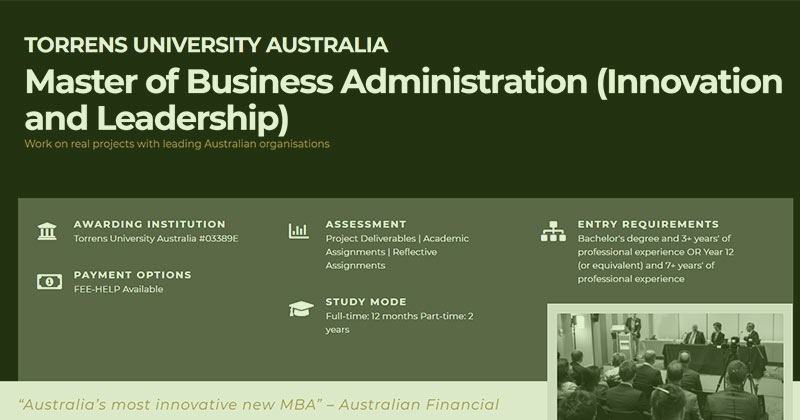 Torrens University Australia and Ducere Global Business School online MBA