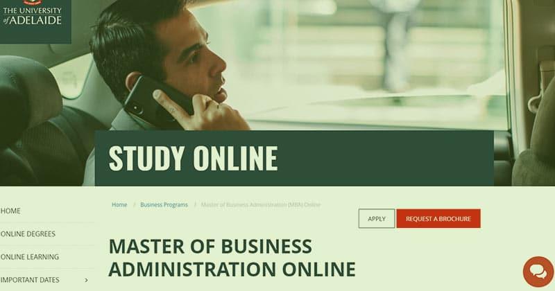 University of Adelaide online MBA